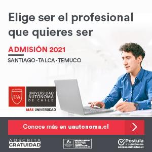 Admisión Universidad Autónoma de Chile